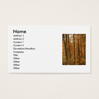Awesome Amber Business Card