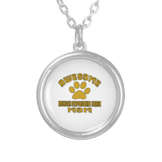 AWESOME AMERICAN STAFFORDSHIRE TERRIER MOM SILVER PLATED NECKLACE