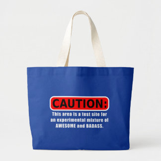 Awesome and Badass Large Tote Bag
