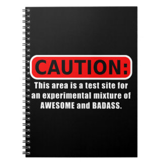Awesome and Badass Spiral Notebooks