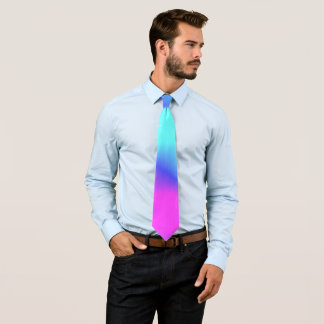 Awesome Aqua Blue Pink Purple Rich Bold Colors Tie
