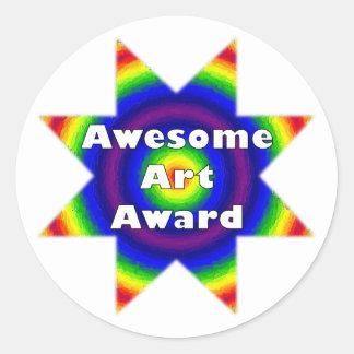 Awesome Art Award Round Sticker