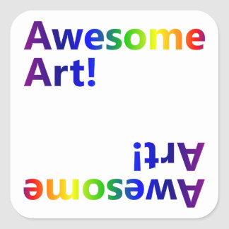 Awesome Art Square Sticker