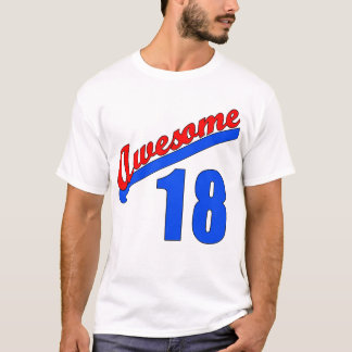 Awesome at 18 Years Old 18th Birthday T-Shirt