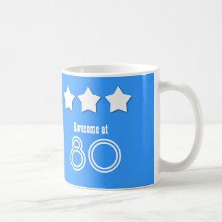 Awesome at 80 Custom Name Birthday A04AZ Coffee Mug