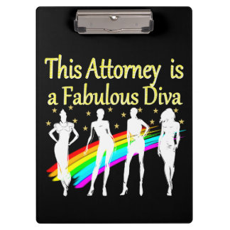AWESOME ATTORNEY PARTY GIRL DESIGN CLIPBOARD