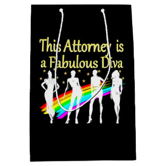 AWESOME ATTORNEY PARTY GIRL DESIGN MEDIUM GIFT BAG