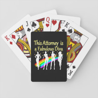 AWESOME ATTORNEY PARTY GIRL DESIGN POKER DECK