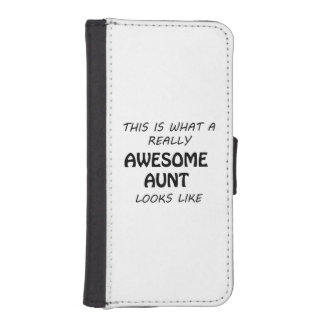 Awesome Aunt iPhone SE/5/5s Wallet Case