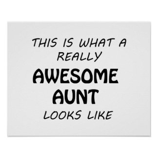 Awesome Aunt Poster