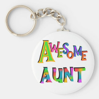Awesome Aunt T-shirts and Gifts Basic Round Button Keychain