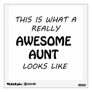 Awesome Aunt Wall Sticker