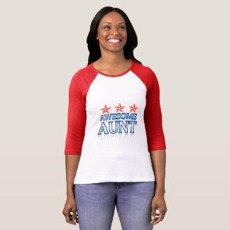 Awesome Aunt Women's Bella+Canvas 3/4 Sleeve Ragla T-Shirt