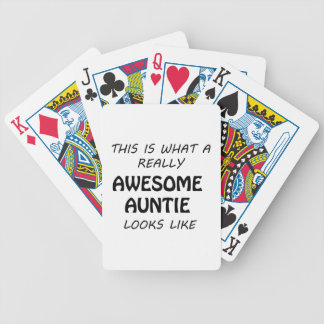 Awesome Auntie Bicycle Playing Cards