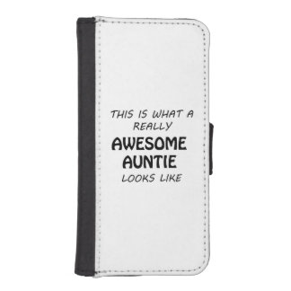 Awesome Auntie iPhone SE/5/5s Wallet Case