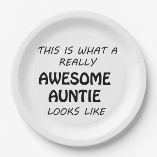 Awesome Auntie Paper Plate