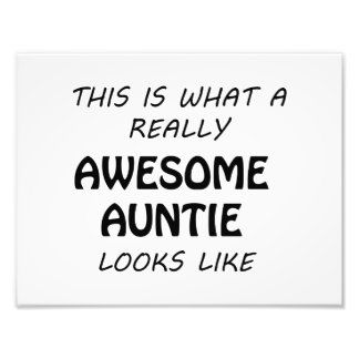 Awesome Auntie Photo Print