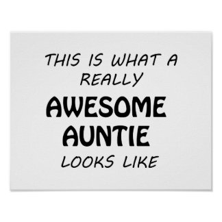 Awesome Auntie Poster