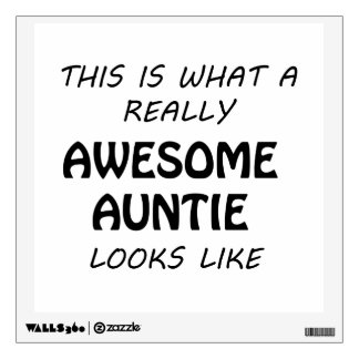 Awesome Auntie Wall Decal