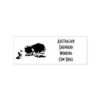 Awesome Australian Shepherd Working Cow Dogs Rubber Stamp