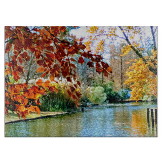 Awesome Autumn on the Water Cutting Board