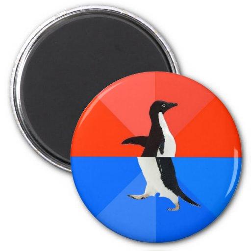 Awesome Awkward Penguin Refrigerator Magnet