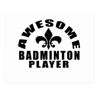 AWESOME BADMINTON PLAYER POSTCARD