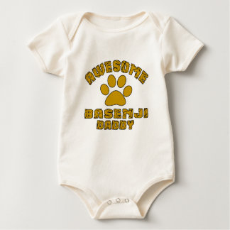 AWESOME BASENJI DADDY BABY BODYSUIT