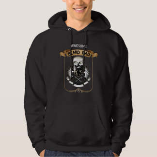 AWESOME BEARD DAD - Father's Day Beard Lover Gift Hoodie
