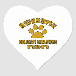 AWESOME BELGIAN MALINOIS MOM HEART STICKER