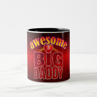 AWESOME BIG DADDY (Your Initials) Two-Tone Coffee Mug