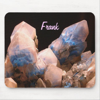 Awesome Blue Crystals Mouse Pad