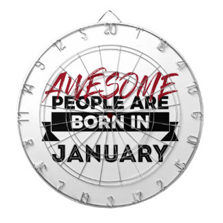 Awesome Born In January Babies Birthday Dartboard