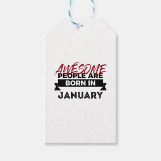 Awesome Born In January Babies Birthday Gift Tags