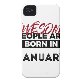Awesome Born In January Babies Birthday iPhone 4 Case