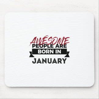 Awesome Born In January Babies Birthday Mouse Pad