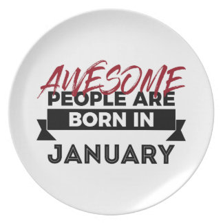 Awesome Born In January Babies Birthday Plate