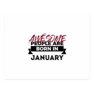 Awesome Born In January Babies Birthday Postcard