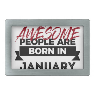 Awesome Born In January Babies Birthday Rectangular Belt Buckle