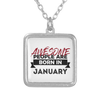 Awesome Born In January Babies Birthday Silver Plated Necklace