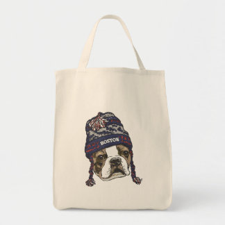 Awesome Boston Fan Blue Cap Tote Bag