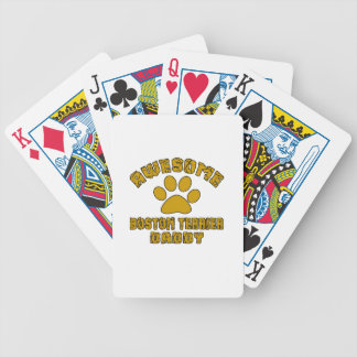 AWESOME BOSTON TERRIER DADDY BICYCLE PLAYING CARDS