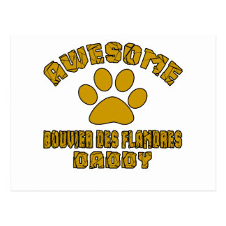 AWESOME BOUVIER DES FLANDRES DADDY POSTCARD