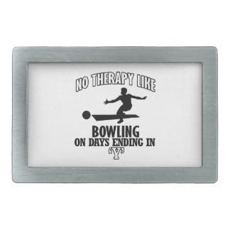 Awesome Bowling DESIGNS Rectangular Belt Buckle