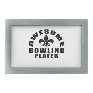 AWESOME BOWLING PLAYER BELT BUCKLE