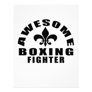 AWESOME BOXING FIGHTER LETTERHEAD DESIGN