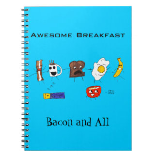 Awesome Breakfast, Bacon and All Note Books