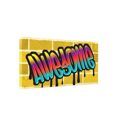 awesome brick wall graffiti design gallery wrapped canvas
