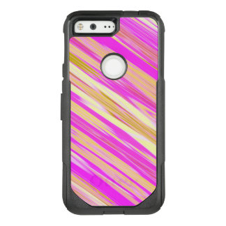 Awesome Bright Pink Diagonal Design OtterBox Commuter Google Pixel Case