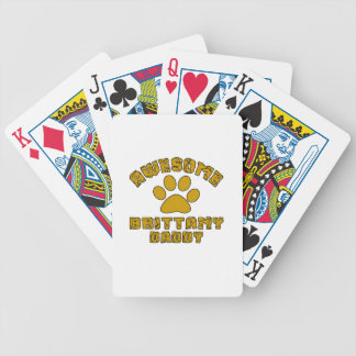 AWESOME BRITTANY DADDY POKER DECK
